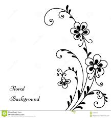 Design Black And White Black Flowers On White Royalty Free Stock Photo Image 33320515