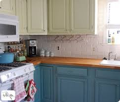 Painted Kitchen Cabinet Color Ideas Different Color Kitchen Cabinets Kenangorgun Com