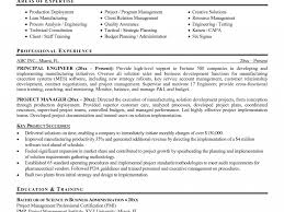 Sample Resume For Project Manager by Project Manager Sample Resume Resume Cv Cover Letter