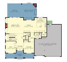 Floor Plan With Roof Plan Spacious Craftsman With Roof Deck 23642jd Architectural