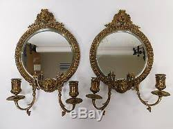 Mirror Sconce Tiffany U0026 Co Pair Mirror Sconce Brass Lion Head Wall Antique