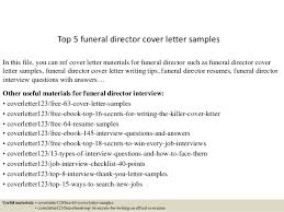 Samples Of Cover Letters For Resume by Top 5 Funeral Director Cover Letter Samples 1 638 Jpg Cb U003d1434969975