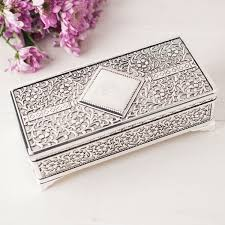 personalised jewelry box antique finish silver plated jewellery box gettingpersonal co uk