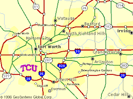 tcu parking map tcu map
