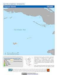 Map Of Cayman Islands Maps Settlement Points V1 Sedac