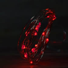 led fairy lights with timer 20 red led fairy wire weatherproof string lights w timer 6ft