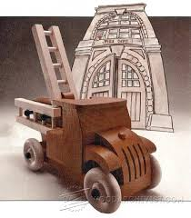 wooden fire truck plans children u0027s wooden toy plans and projects
