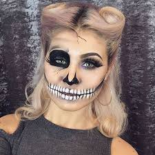 simple skeleton makeup look