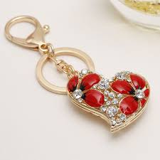golden dolphin ring holder images Creative charm love heart key chain ring holder exquisite jpg