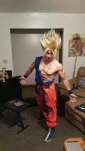 Saiyan Halloween Costume Fun Super Saiyan Goku Cosplay