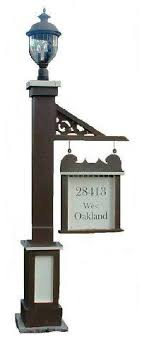 light post with address sign light post address www collectionsetc com lighted house numbers