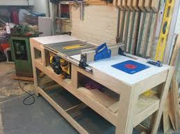 table saw workbench plans table saw station construction