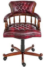 fauteuil de bureau chesterfield fauteuil de bureau style anglais victorien en acajou massif