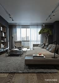 Bachelor Pad Furniture by A Dark And Calming Bachelor Bad With Natural Wood And Concrete