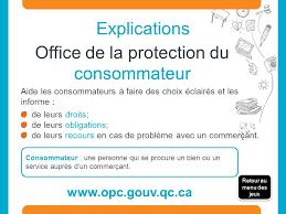 bureau protection du consommateur les règles du jeu merci éducaloi 2015 notes au juriste ppt