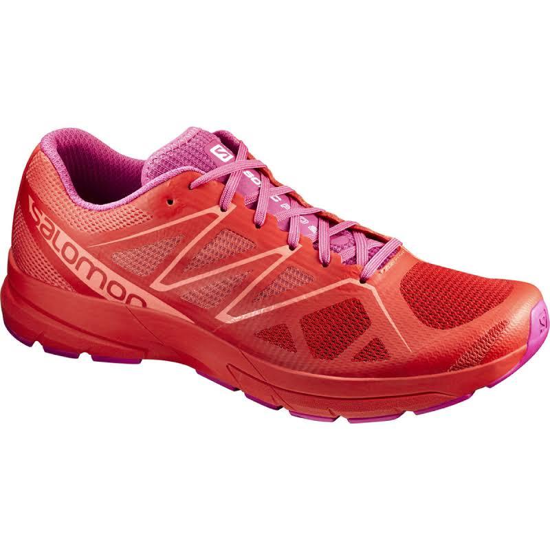 Salomon Sonic Pro 2 Road Running Shoe Poppy Red/Rose Violet/Living Coral 9 889645182308
