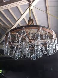 Canning Jar Lights Chandelier Best 25 Wagon Wheel Chandelier Ideas On Pinterest Wagon Wheel