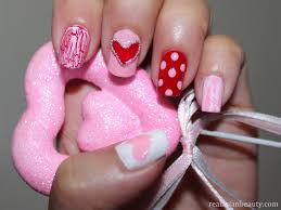 real asian beauty valentines day nail art