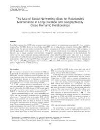 the use of social networking sites for relationship maintenance in