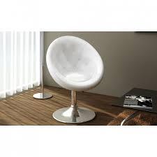 chaise boule fauteuil boule design blanc pas cher