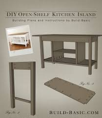 plans for kitchen island build a diy open shelf kitchen island build basic