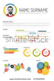 Resume Infographic Template Vector Original Minimalist Cv Resume Template Stock Vector