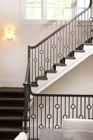 Metal Stair Rails And Banisters Love This Mid Century Modern Bannister Railing Home Details