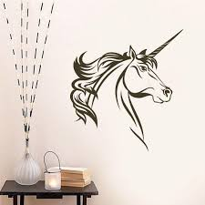 forest decal the walls unicorn head vinyl wall decal sticker