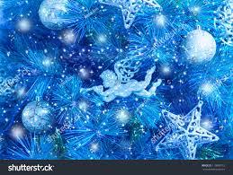 blue christmas blue christmas tree christmas lights decoration
