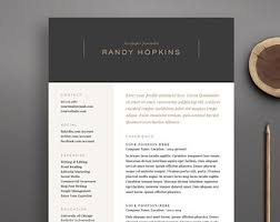 resume template and cover letter template professional design