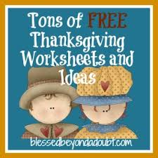free thanksgiving worksheets and ideas blessed beyond a doubt