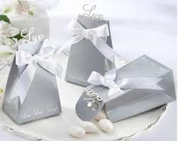 wedding favors boxes wedding favor candy box silver grey style party sweet favor