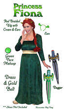 Size Halloween Costumes 4x Princess Fiona Costume Ebay