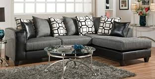 sofa leather and chenille sectional impressive leather and