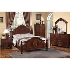 cherry wood 4 poster bedroom set