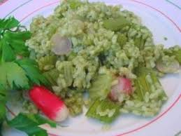 cuisiner celeri risotto aux céleri branche et radis en bouillon de fanes recette