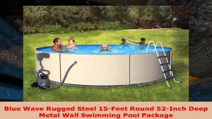 Deep Backyard Pool by Blue Wave Rugged Steel 15feet Round 52inch Deep Metal Wall