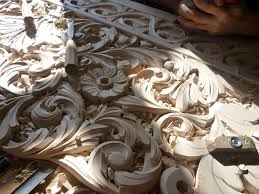 marvellous artistic wood carving from teak wood furniture