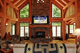 Timber Frame Home Interiors A Classic Timber Frame Home In Pennsylvania