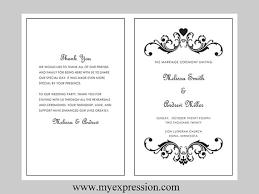 bi fold wedding program template wedding program template bifold black vintage heart scroll