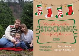 baby announcement christmas card growing family christmas