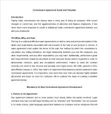 commission agreement template 12 free word pdf documents