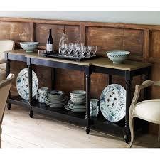 Weathered Bookcase Upton Weathered Oak Top Console Table Black Oka