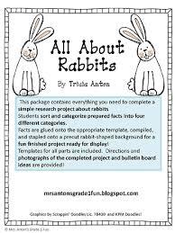 anton u0027s grade 1 fun rabbits bunnies