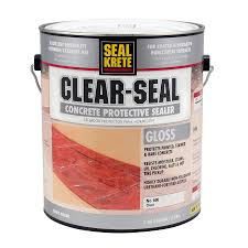 shop seal krete clear seal gloss sealer at lowes com