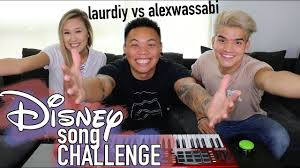 Challenge Wassabi Productions Disney Song Challenge Laurdiy Vs Alex Wassabi Aj Rafael