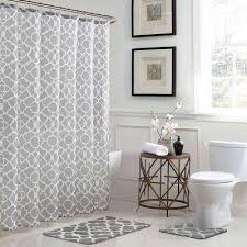 Grey And White Curtains Gray Shower Curtains Shower Accessories The Home Depot
