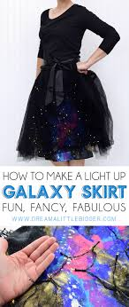 light up christmas skirt diy galaxy skirt with lights dream a little bigger