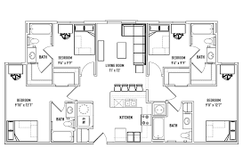 4 bedroom 4 bath house plans floor plans callaway house apartments housing norman ok
