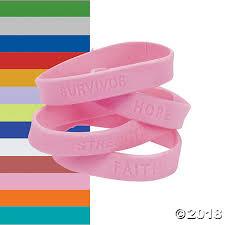 bracelet rubber images Ribbon sayings rubber bracelets